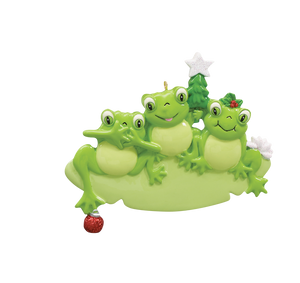 Frog Family of 3 Ornament