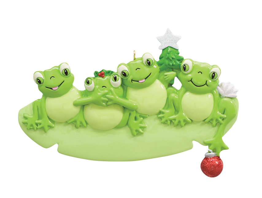 Frog Family of 4 Ornament