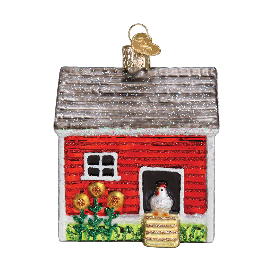 Chicken Coop Christmas Ornament