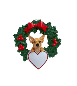 Chihuahua With Wreath