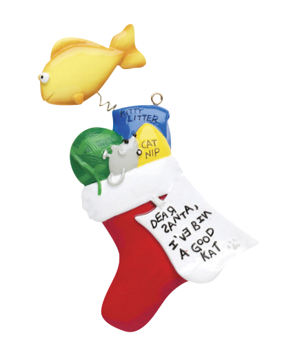 Cat/Kitten Stocking Christmas Ornament