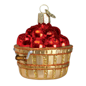 Apple Basket Christmas Ornament
