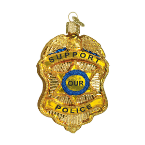 Police Badge Christmas Ornament