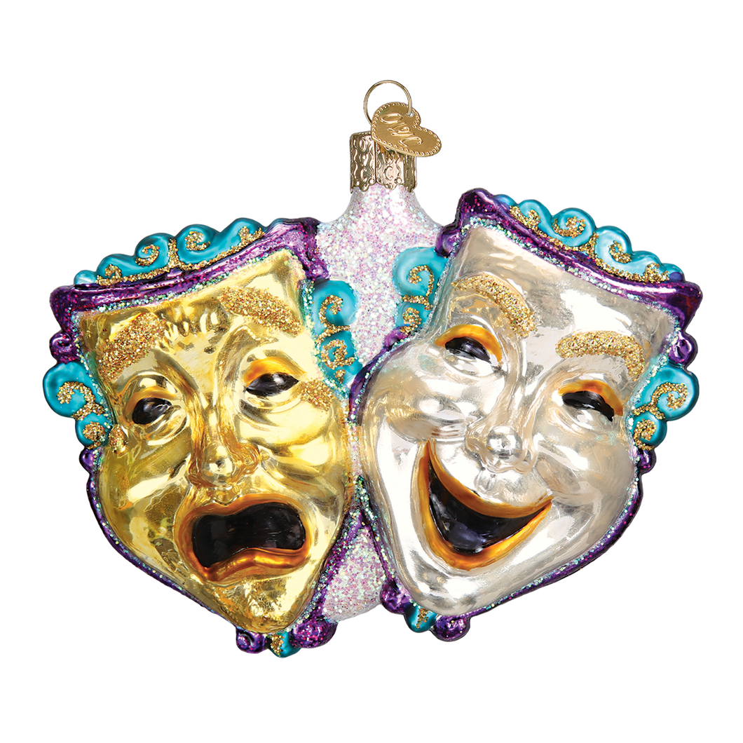 Comedy & Tragedy Christmas Ornament