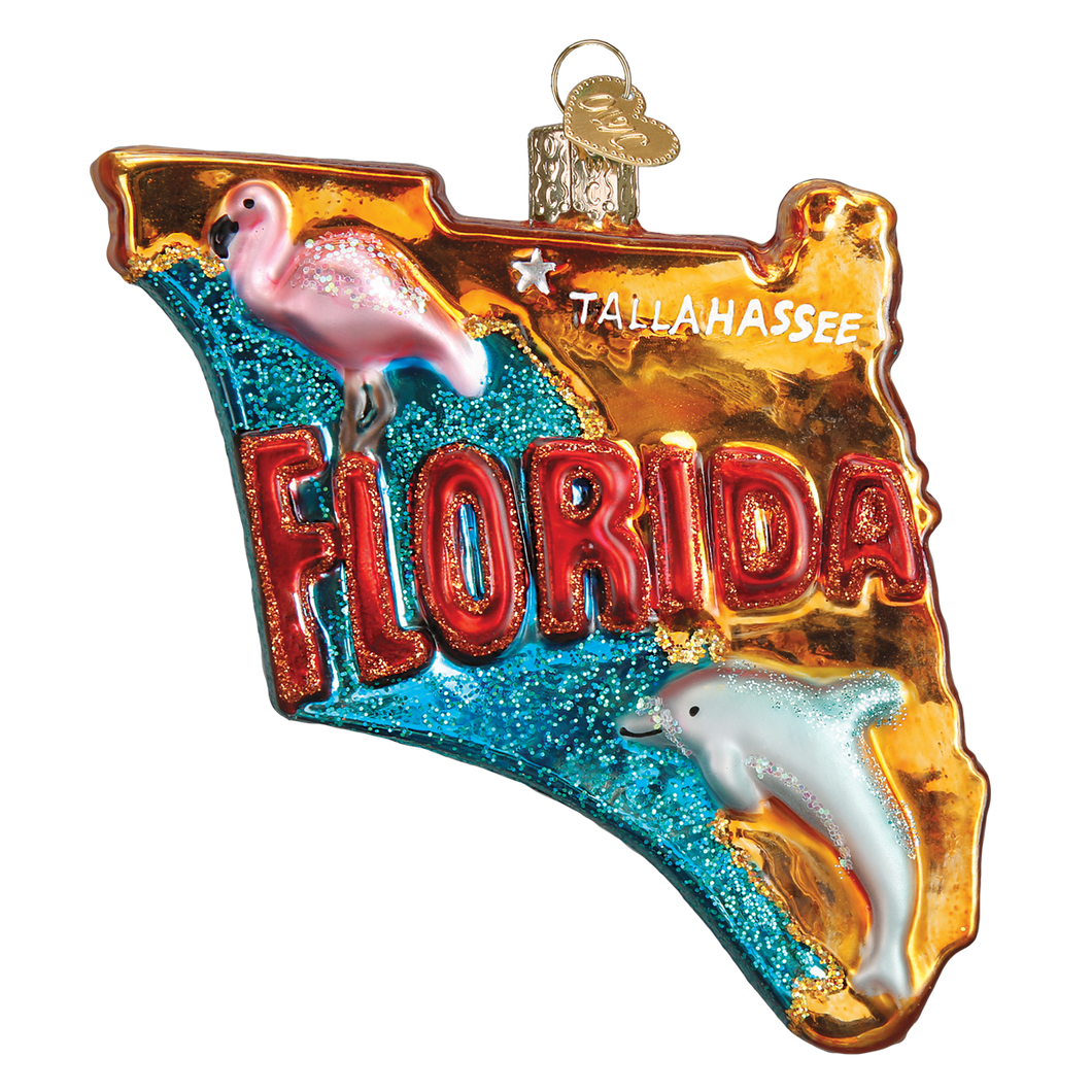 State of Florida Christmas Ornament