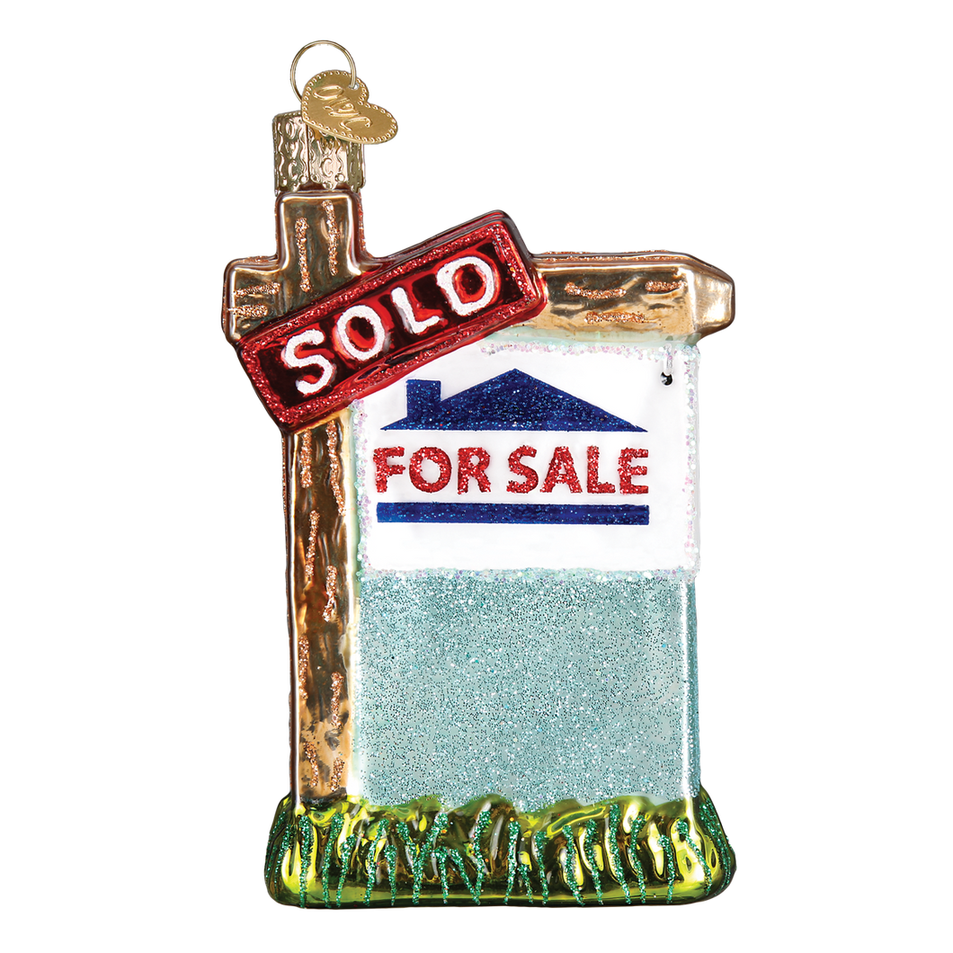 Realty Sign Christmas Ornament