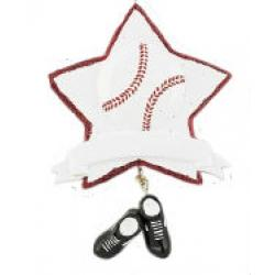 Baseball Star Ornament