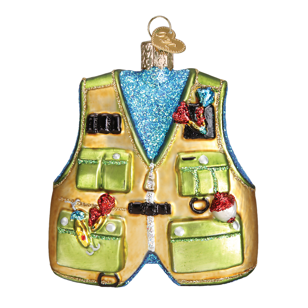 Fishing Vest Christmas Ornament