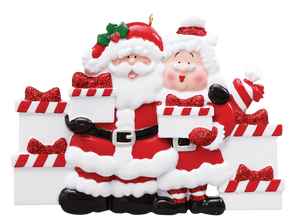 Mr. and Mrs. Claus Family of 6 Ornament