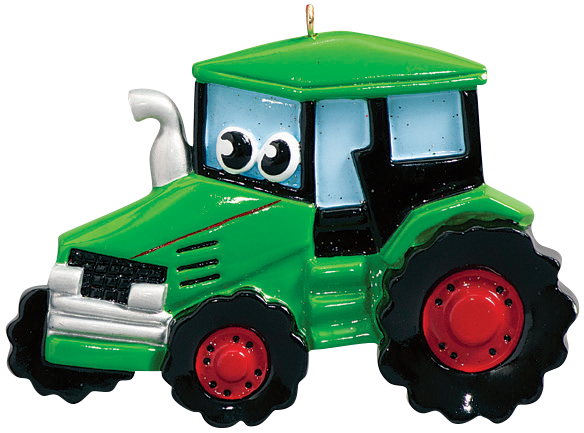 Toy Tractor Christmas Ornament