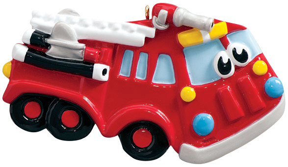 Red Firetruck Ornament