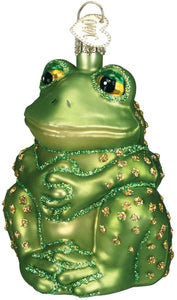 Sitting Frog Christmas Ornament