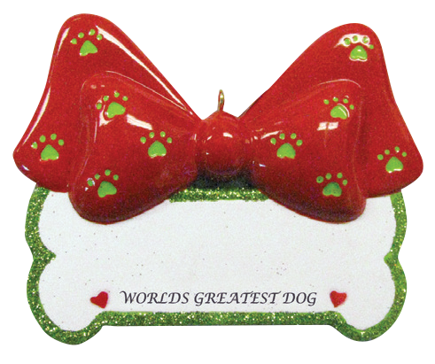 Worlds Greatest Dog Bone Christmas Ornament