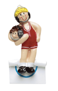 Wrestler Christmas Ornament