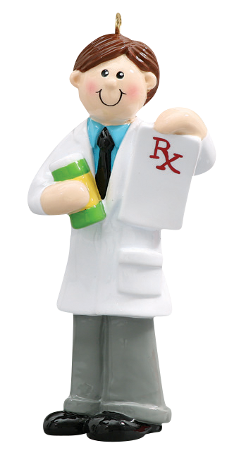 Pharmacist Male Christmas Ornament