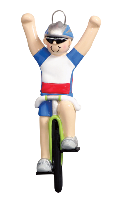 Girl On Bicycle Christmas Ornament