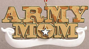 Army Mom Christmas Ornament