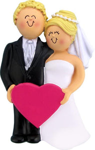 Wedding: Both Blonde Christmas Ornament