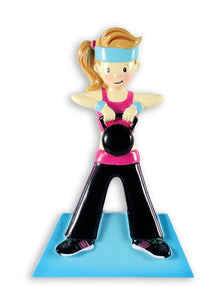 Cross Fit Female Christmas Ornament