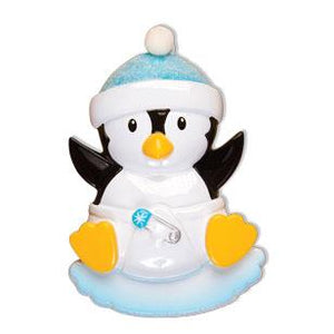 Baby's First - Baby Penguin Boy Christmas Ornament