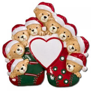 Nine Bears on Stockings