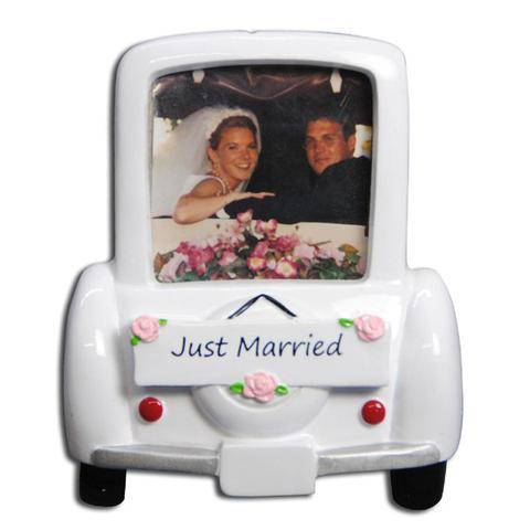 Wedding Car Picture Frame Christmas Ornament