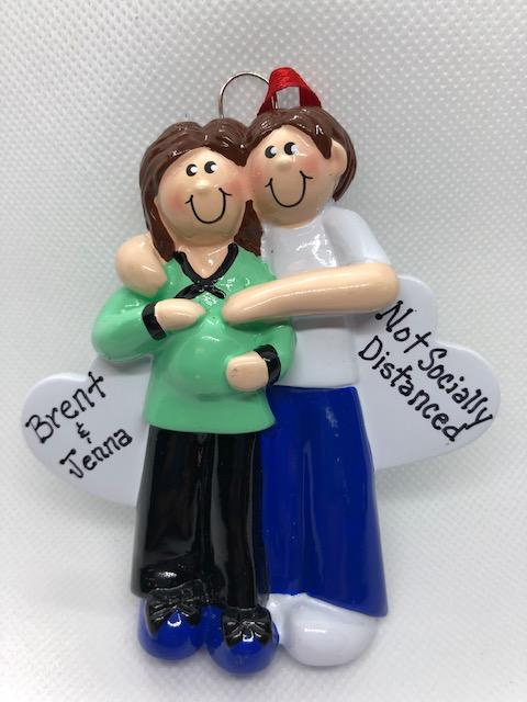 Not Socially Distanced Maternity Couple Ornament