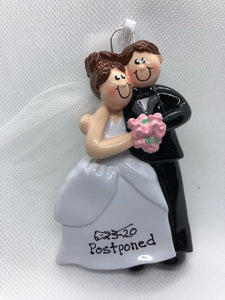 Postponed Wedding Couple Ornament