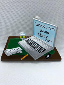 Working From Home Laptop Desk Ornament