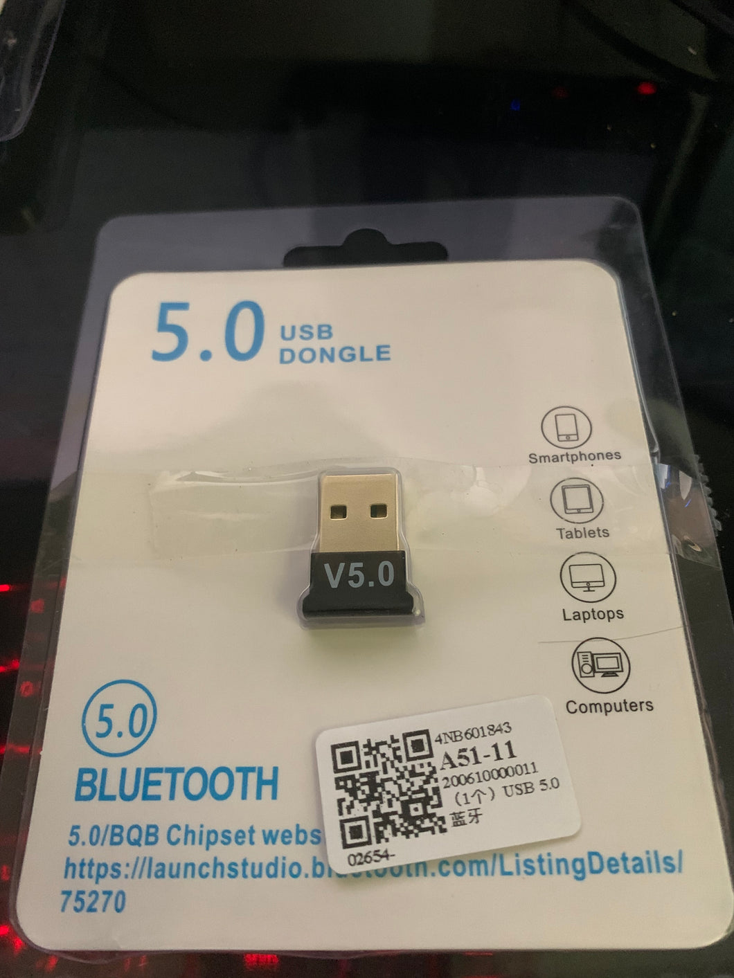 Bluetooth 5.0 USB Adapter