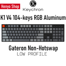 Load image into Gallery viewer, Keychron K1 V4 104-keys RGB Aluminum Wireless Mechanical Keyboard