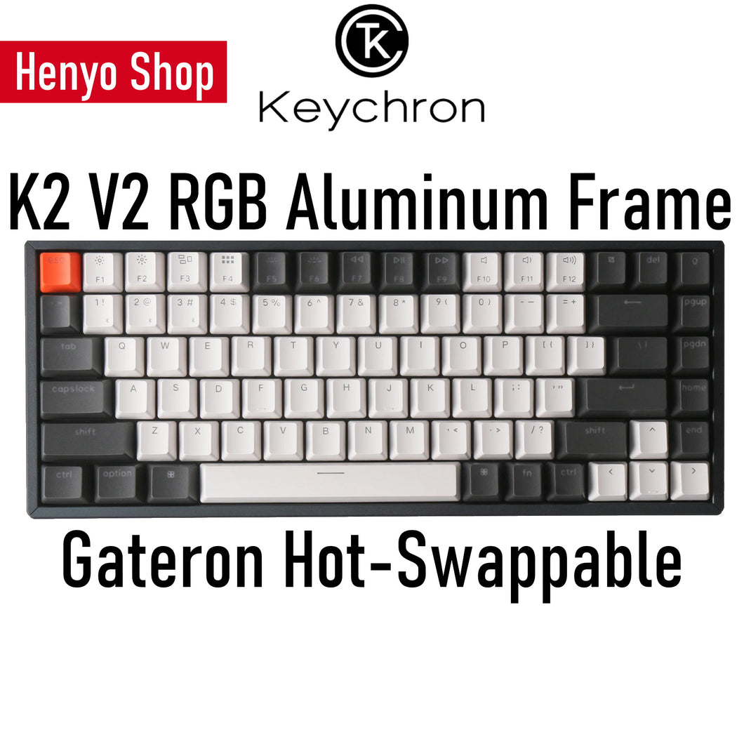 Keychron K2 V2 RGB Aluminum Frame Gateron HotSwap Wireless Mechanical Keyboard