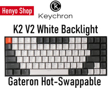 Load image into Gallery viewer, Keychron K2 V2 White Backlight Gateron HotSwap Wireless Mechanical Keyboard