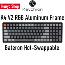 Load image into Gallery viewer, Keychron K4v2 RGB Aluminum Frame HotSwap Wireless Mechanical Keyboard