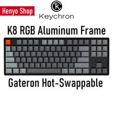 Load image into Gallery viewer, Keychron K8 RGB Aluminum Frame HotSwap Wireless Mechanical Keyboard