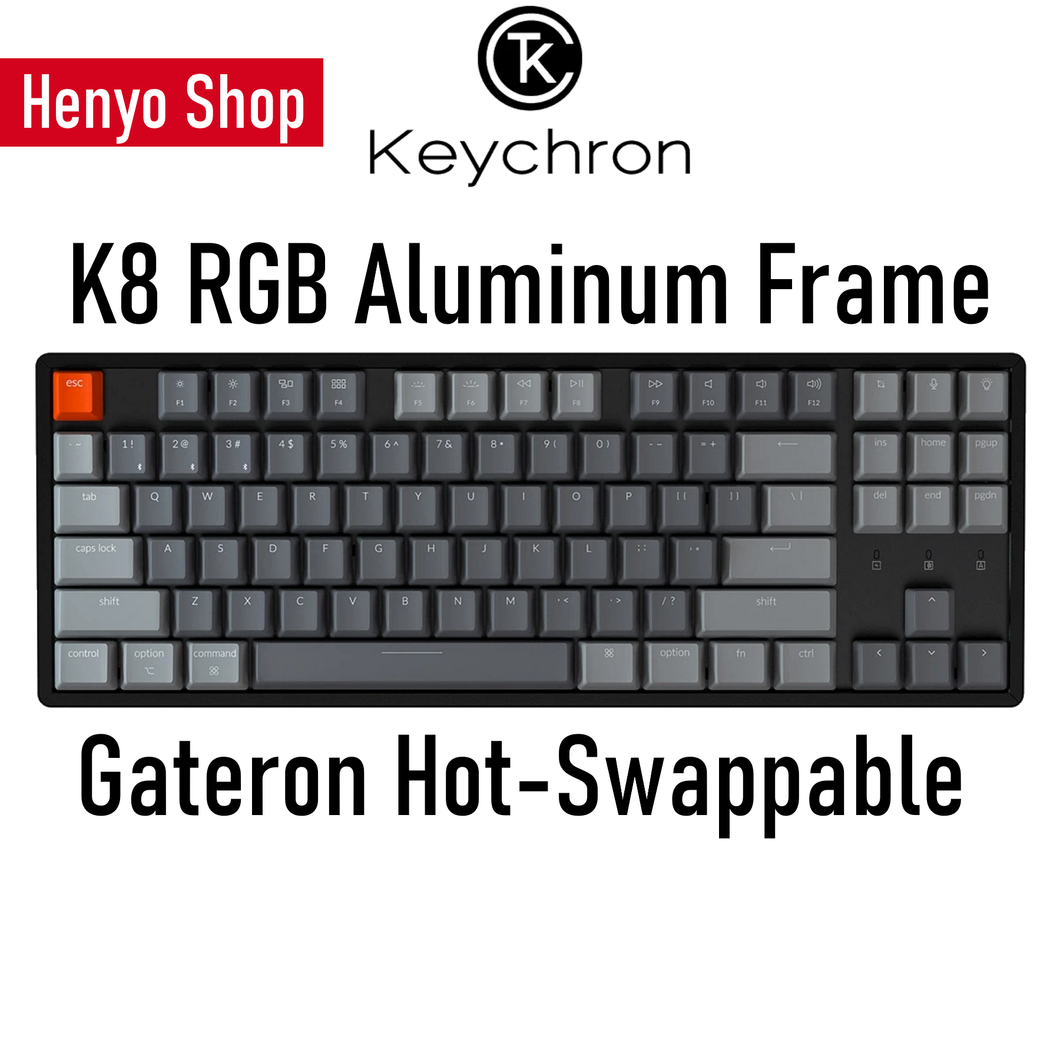 Keychron K8 RGB Aluminum Frame HotSwap Wireless Mechanical Keyboard