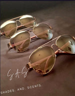 Load image into Gallery viewer, Men's Gold Aviator Shades