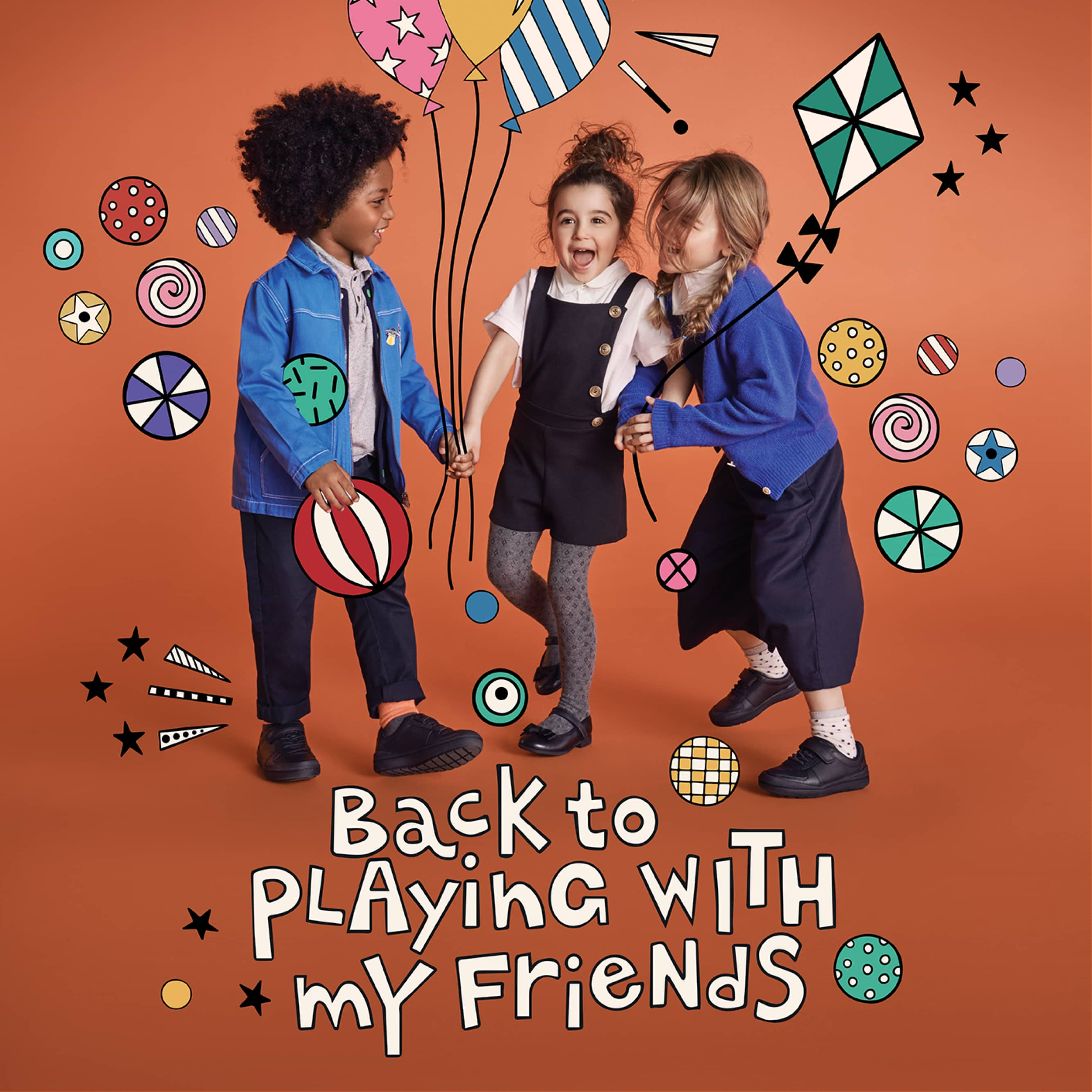 Back to playing with my friends | Shop Kids School Shoes
