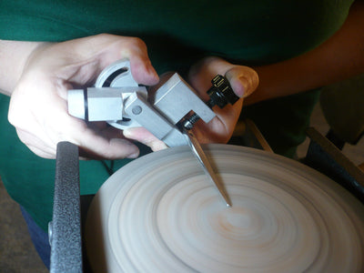 sharpening on a convex plate