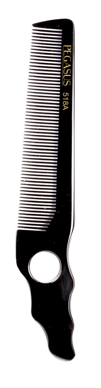Barber Hard Rubber Comb by Pegasus Model  518A - Bonika Shears