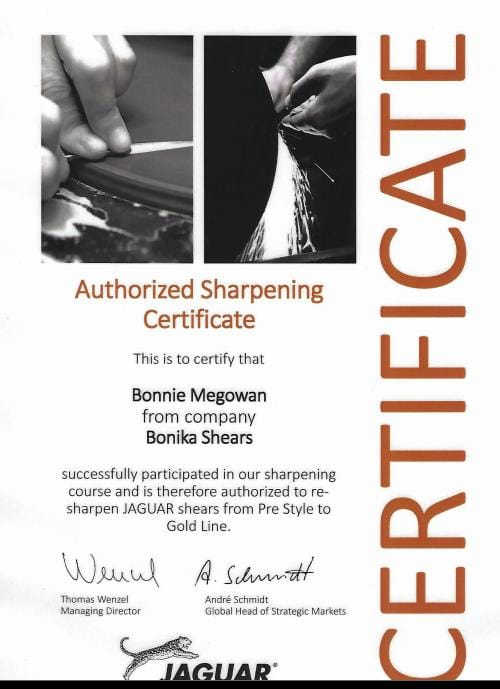 Authorized Jaguar Shears Sharpening - Mail Order, includes shipping
