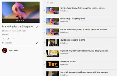 Marketing your Sharpening Business Library - 20 Videos - Bonika Shears