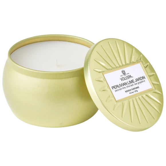 Voluspa- Peruvian Lime Jardin 4.5 oz Candle