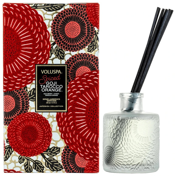 Voluspa- Spiced Goji Tarocco Orange Reed Diffuser