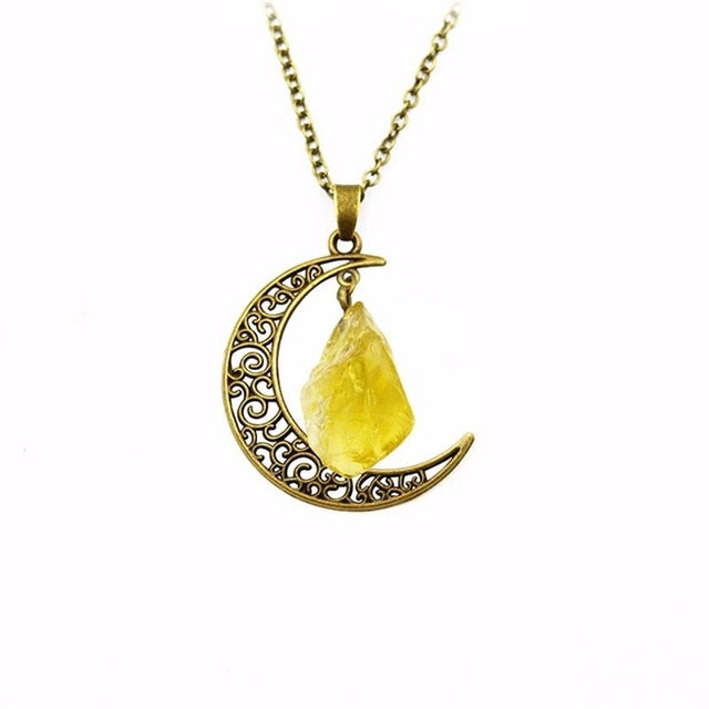 Vintage Stone Moon Stone Necklace