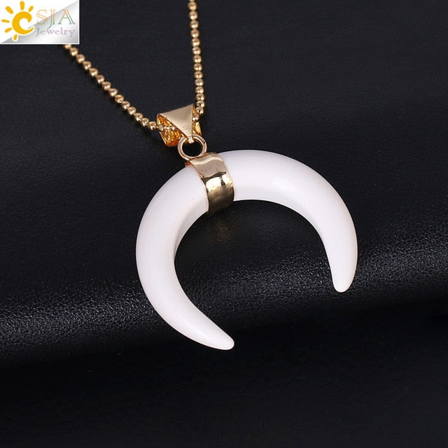 Energy Clearing Crescent Moon Necklace