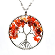 Tree of Life Necklace Natural Stone Pendant