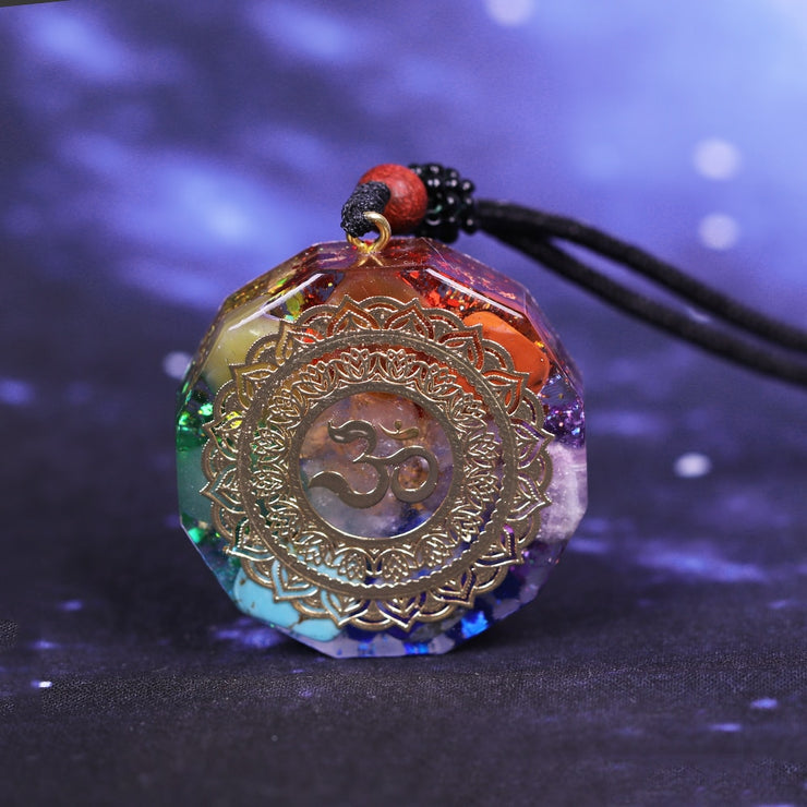 Orgonite Om Necklace
