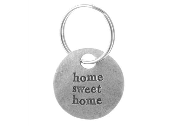Home Sweet Home Pewter Keyring by Kutuu