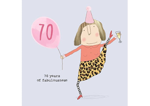 70th Birthday Card - 70 years of fabulousness